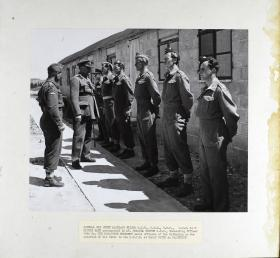 General Sir Henry Maitland Wilson accompanied by Lt-Col Smythe meets the officers of 10th Parachute Battalion