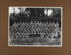 Group Photograph of Sergeants' Mess, 156 Battalion, June 1944
