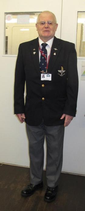 Derrick Hall volunteering at Airborne Assault Museum, Duxford, May 2015.