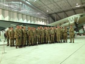 90 men from the RAF Regiment, based at RAF Honinngton, visit Airborne Assault, Duxford, June 2015.