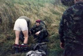 10 PARA Medical Officer treats 10 PARA 2ic Major Brian de Lazlo Cazenove, Germany 1989.