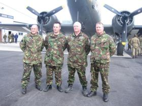 Some of the British participants in the Op Amherst Commemorative Jump, 2010.