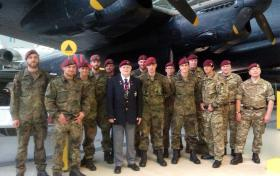 Derrick Hall with 144 Parachute Medical Squadron and German 262 Battalion, Duxford, June 2015.
