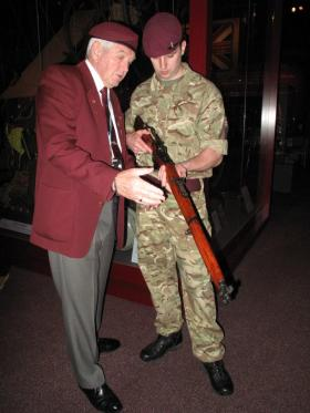 Visit of 4 PARA to Airborne Assault, Duxford, March 2015.