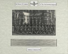 Group Photograph of 4 Platoon, B Company 13th Parachute Battalion, Salisbury, 1945.
