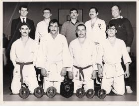 Group photograph of the 2 PARA Judo team, 1980.