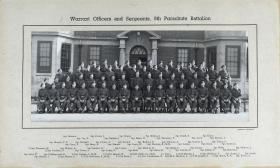 Group Photograph of Warrant Officers and Sergeants of 9th Parachute Battalion