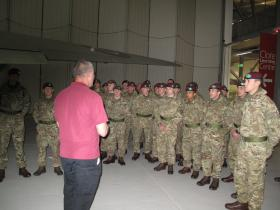 Visit of recruits from ITC Catterick, Airborne Assault Duxford, May 2015.
