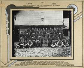 Group Photograph of the Sergeants' Mess 12th Parachute Battalion, 1945