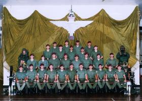 Group photograph of 10 (V) Para Mortar Pln, Leigh on Sea, Southend, 1993.