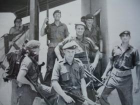 Mortar Plt Sp Coy 1 PARA about to patrol Sheik Othman Aden 1967
