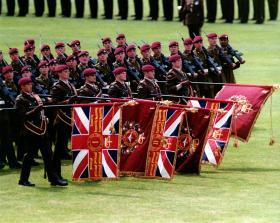 Colours Presentation, Queen's Avenue, Aldershot, July 1998.
