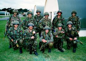 Members of A Coy, 2 PARA, Northern Ireland training, Stamford, September 1996.