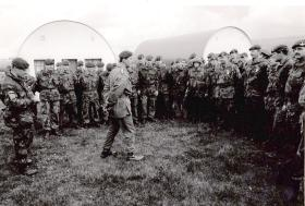 HRH Prince of Wales visit to Stamford Training Camp, May 1993.
