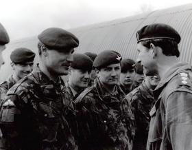 HRH Prince Charles talking to 'Bob' Hilton, Stamford Training Camp, 1993.