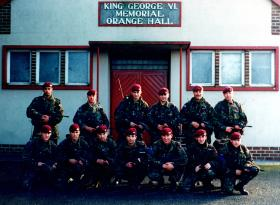 1 Platoon, A Coy, 2 PARA, Newtownhamilton, 1997.