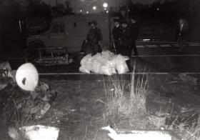 1,000lb Bomb found at the junction of Pantridge/Brianswell Road Poleclass Estate, December 1993.