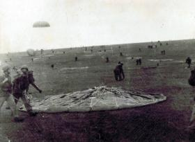 Members of the 12th Para Bn on a drop zone, undated.