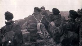 Members of the 12th/13th (Yorks and Lancs) Battalion The Parachute Regiment (TA), The Lake District,  c1957.
