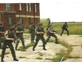 12 Company 4 PARA Bayonet Training, Sculthorpe, 2001.