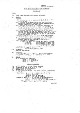 Copy of 12 (Yorkshire) Para Bn Operation Order Normandy June 1944