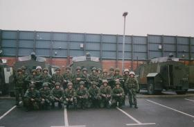 12 Platoon, D Coy 2 PARA, Woodbourne RUC Station West Belfast, 29 May-16 Jun 1993.