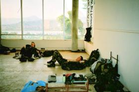 1 Section, 12 Platoon, D Coy Group, 2 PARA, rest and admin area, Sierra Leone, May 2000.
