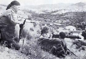 A machine gun section of 12/13 Bn during Annual Camp in Cyprus, 1963