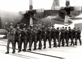 'Royal Course' 841A in stick formation, RAF Brize Norton, 17-28 April 1978.