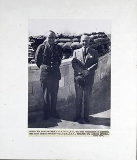 Major General Stockwell, Commander of the 6th Airborne Division meets General Sir Alan Cunningham
