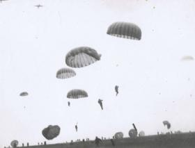 12th Para Bn land on a drop zone, undated.
