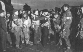 Members of the 9th (Essex) Parachute Battalion prior to emplaning for Merville Battery.