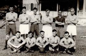 13th Parachute Battalion Officers' Football Team, Malaya, 1945.