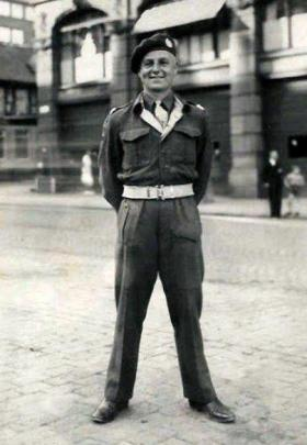 Private W F Roberts, 1st Battalion, The Border Regt (Airborne), Norway 1945.