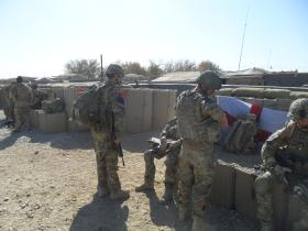 A Patrol Prepares to Depart, Mortar Pits, Patrol Base 1, Afghanistan, 2010
