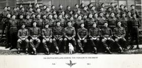 Warrant Officers & Sergeants Mess. 13th (Lancs) Parachute Battalion. Larkhill, Wilts. February 1945.