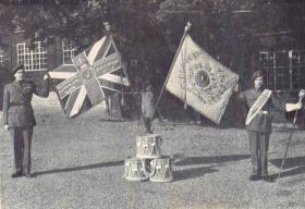 14th Para Bn Colours received from The Hampshire Regiment, 17 October 1948.