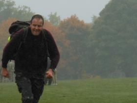 Mark Ross at the end of Paras 10 Colchester, October 2012.