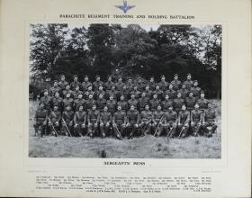 Group Photograph of Sgts' Mess, Parachute Regiment Training and Holding Battalion, c1947.