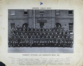 Group Photograph of Airborne Forces Depot, WO and Sergeants' Mess, 1947