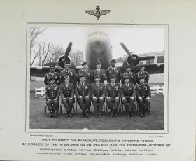 Photograph of American visit to the Airborne Forces Depot