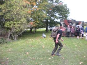 Paras 10 11/9/11. Last 300m.Good day out. Get fit and raised money. Asking any ex 10 Para to join me next year.