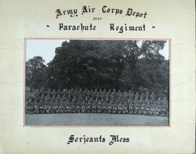 Group Photograph of Airborne Forces Depot, WO and Sergeants' Mess, 1945