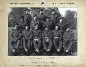 Group Photograph of Airborne Establishments NCO's, Junior NCO's Course No.1, November 1947