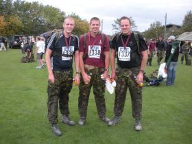 Mark Ross with his two sons on the PARAS' 10, 11 September 2011.