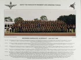 Group Photograph of the Parachute Regiment and Airborne Forces Depot, 1992