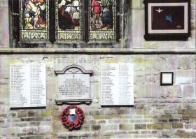 156 Battalion Memorial, Melton Mowbray Church