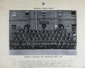 Group Photograph of the WO and Sergeants' Mess, the Parachute Regiment and Airborne Forces Depot, 1947