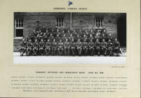 Group Photograph of the WO and Sergeants' Mess, the Parachute Regiment and Airborne Forces Depot, 1949