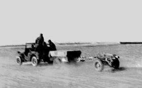 75mm Pack Howitzer of 159th Parachute Light Regiment RA on the move circa 1945
